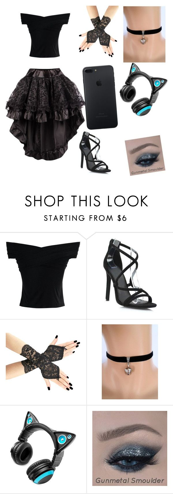 """""""cat"""" by katlynnfrazier ❤ liked on Polyvore featuring Chicwish and Brookstone"""
