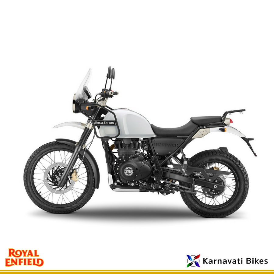 From Ruthless Terrains To Dusty Bumpy Roads Explore New Adventure And Terrain With The Royalenfield Himalayan White Royal Enfield Enfield Classic Royal Enfield Accessories