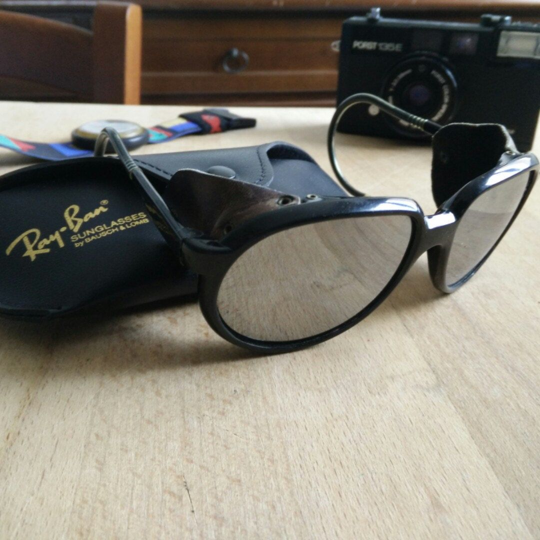 039db35050473 Ultrarare 80 s Ray Ban CATS 7000 made in France glacier glasses with  original leather case