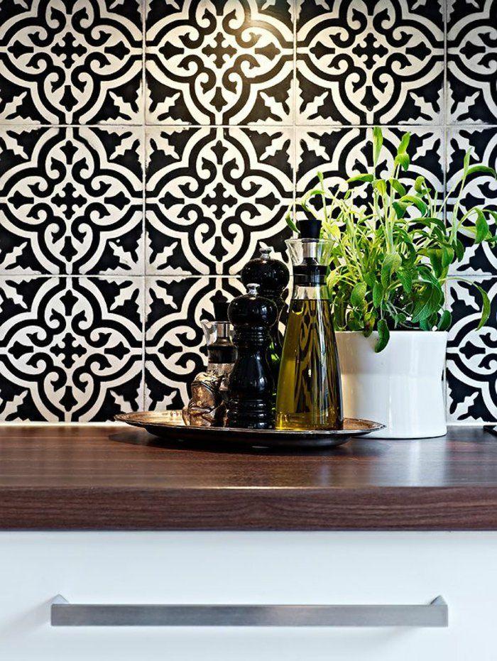 Vous Cherchez Des Idées Pour Un Carrelage Noir Et Blanc On Vous - Carrelage noir mat cuisine pour idees de deco de cuisine