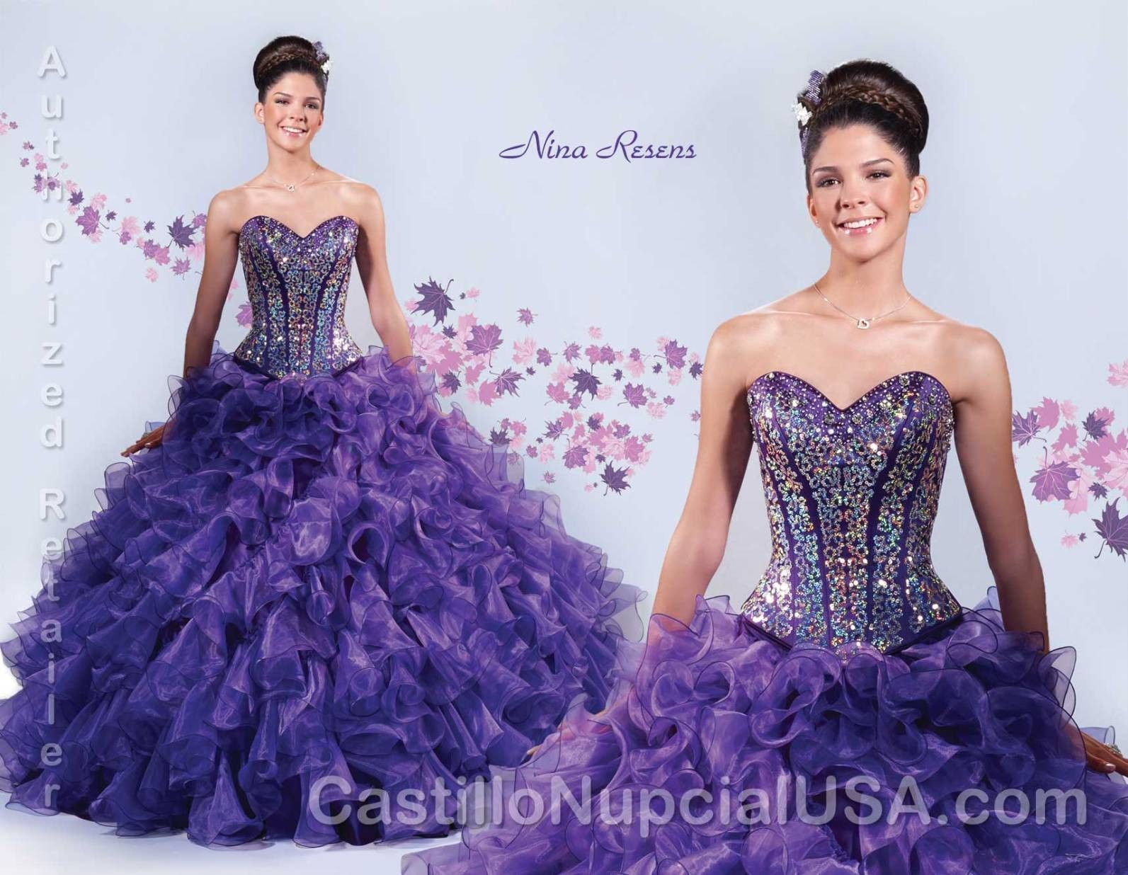 Strapless Quinceanera Dresses with Ruffled Skirt