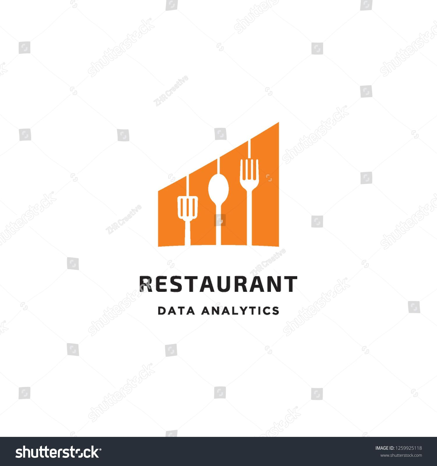 Negative Space Fork Spoon And Spatula In Chart Bar Graphic For