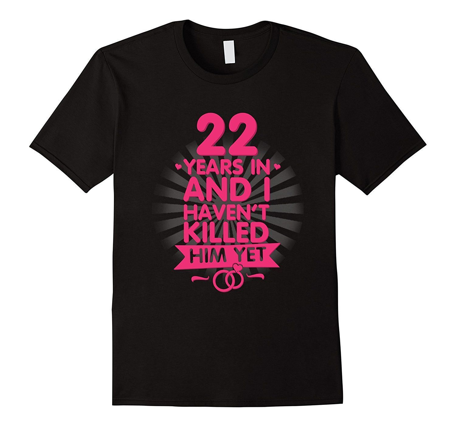 22nd Wedding Anniversary Gift Ideas: 22 Years Of Marriage T Shirt. 22nd Anniversary Gift For