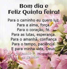 Bom Dia E Feliz Quinta Feira Mensagens Feliz Quinta Feira