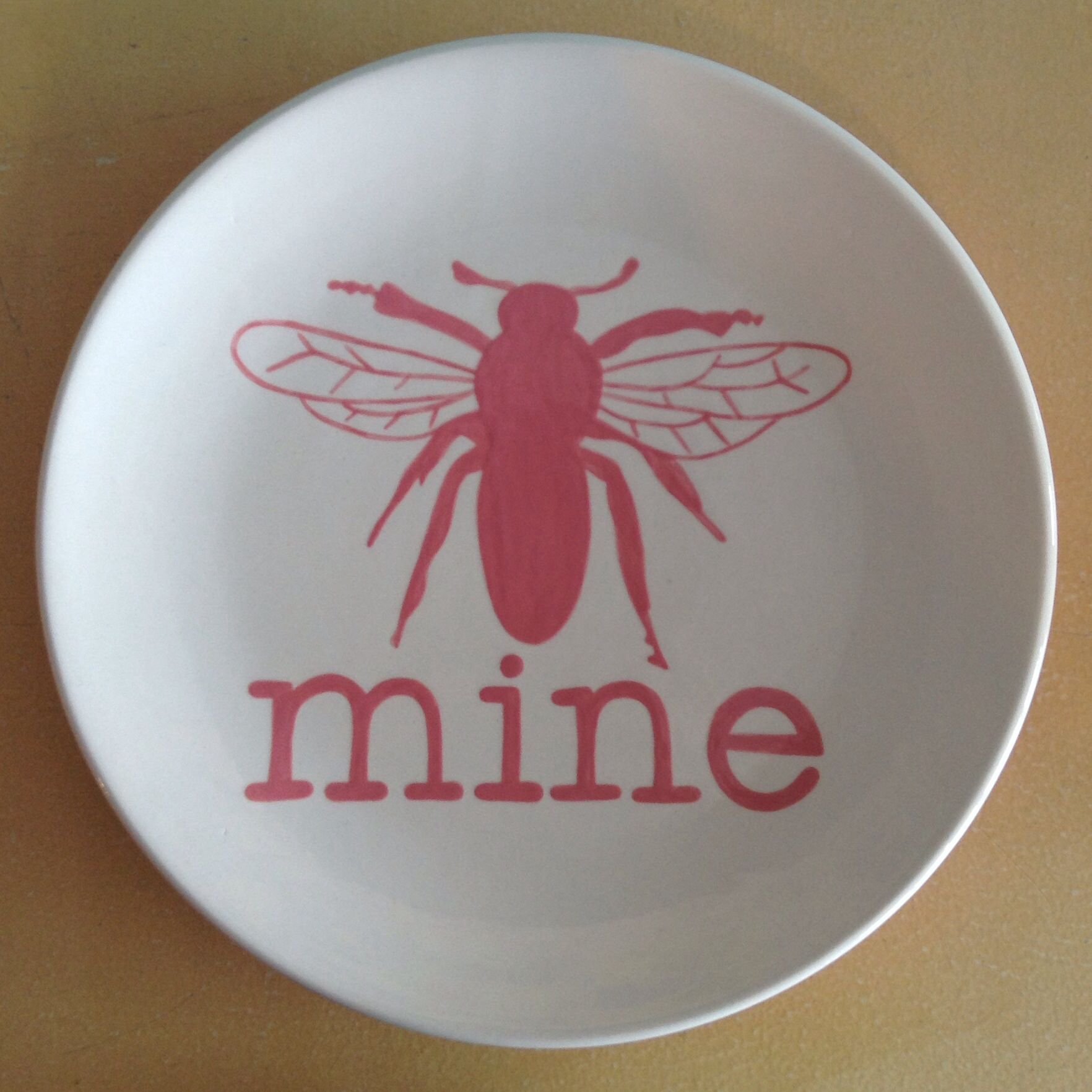 Bee Mine Valentine S Day Plate Learn Paintingpottery Paintingpainted Potteryboyfriend Gift