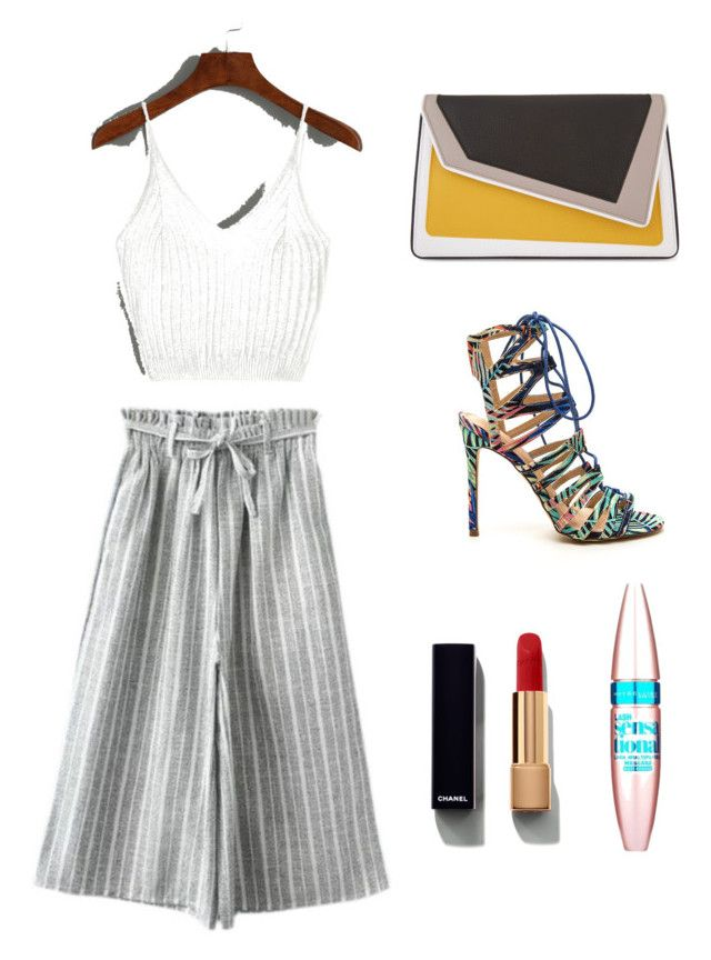 """mixed."" by myrtwpapag on Polyvore featuring âme moi, Chanel and Maybelline"