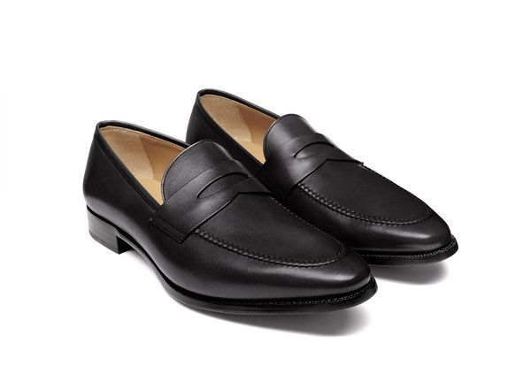 Currently obsessed with these penny loafers.  Jack Erwin : Abe - Black Full Grain