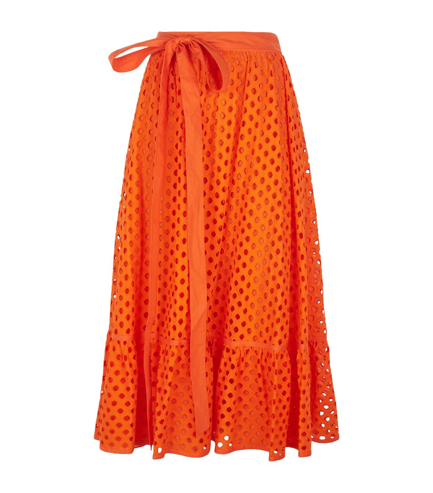 d0a22d85ad Tory Burch Hermosa Eyelet Cut-Out Midi Skirt | Harrods.com | The ...