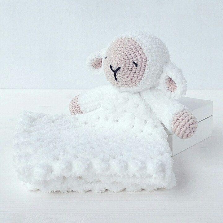 Sleepy Sheep Lovey Pattern | Security Blanket | Crochet Lovey | Lamb ...