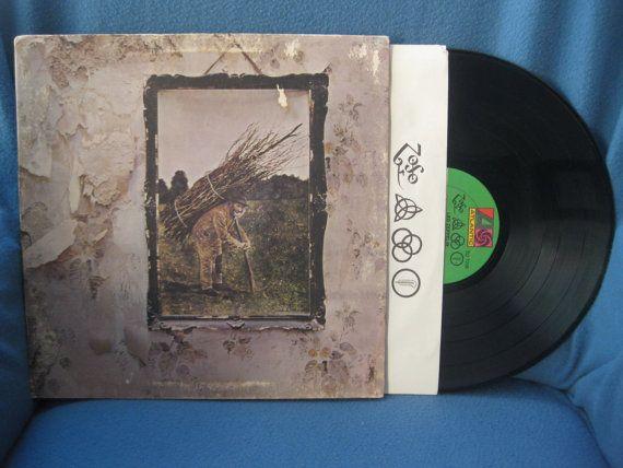 Rare Vintage Led Zeppelin Quot Iv Zoso Quot Vinyl Lp Record
