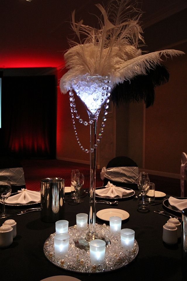 Event Styling Decorations Centerpieces Gatsby Party Gatsby