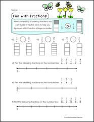 Free math worksheets with number lines for students with ...