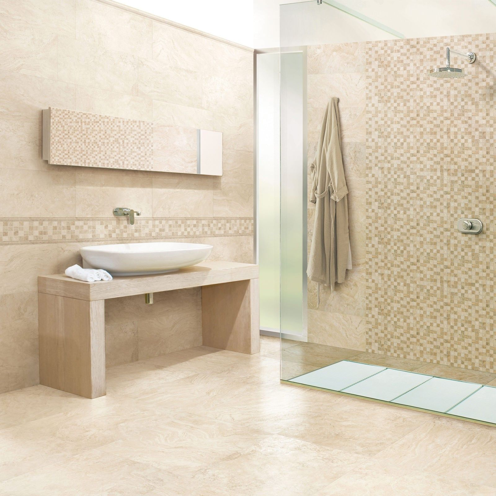 Wind Wall Tile Travertine Effect