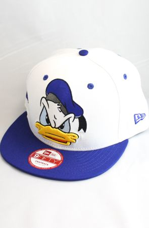 2b3dfc8e1ae 123SNAPBACKS Donald Duck Snapback Hat (White Blue)  40.00 ...