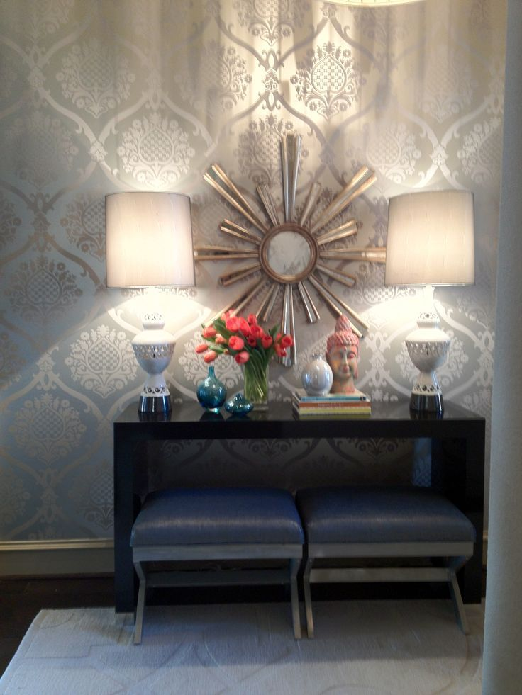 Wallpaper Idea For Accent Wall In Master Bedroom