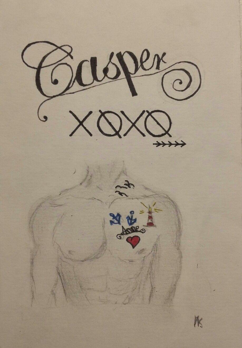 """Xoxo - casper  """"Ich tätowier' mir deinen Namen übers Herz, mit Anker, damit jeder weiß wo meins hingehört. 'Nen Leuchtturm daneben - egal wie neblig es leitet mich, Schwalben an den Hals damit jeder sieht wie frei wir sind!"""""""
