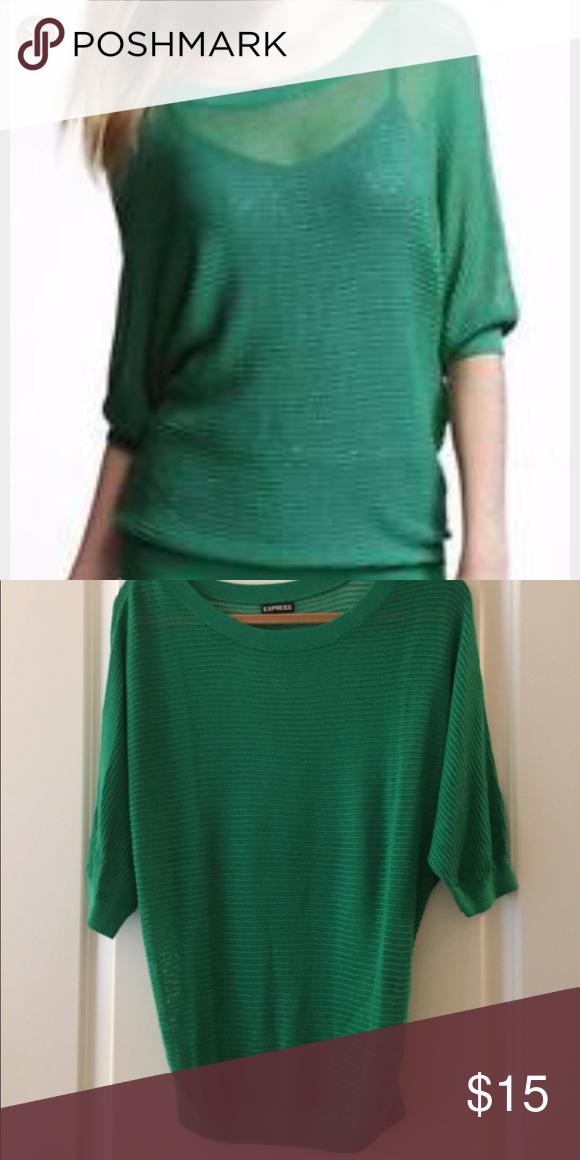 Express open knit dolman sleeve sweater Express open knit dolman sleeve sweater. Express Sweaters Crew & Scoop Necks
