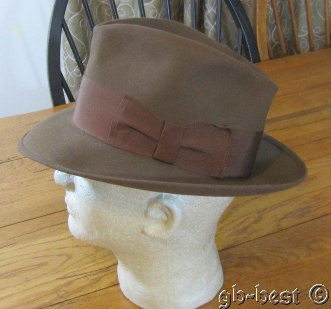 68388dc934389 Vintage Fedora Hat Chocolate BROWN Cavanagh Hats New York 7 1 8 ...
