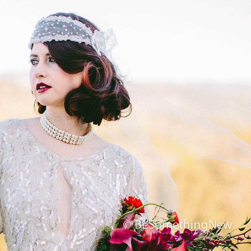 Great Gatsby, 1920\'s Style Wedding Headband Wedding Hair Accessory ...