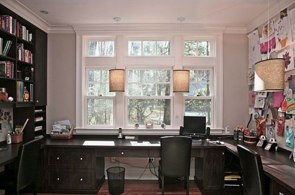 Delightful Luxury Home Office Furniture With Charming Two Person Desk For Home Office  Design Ideas With L