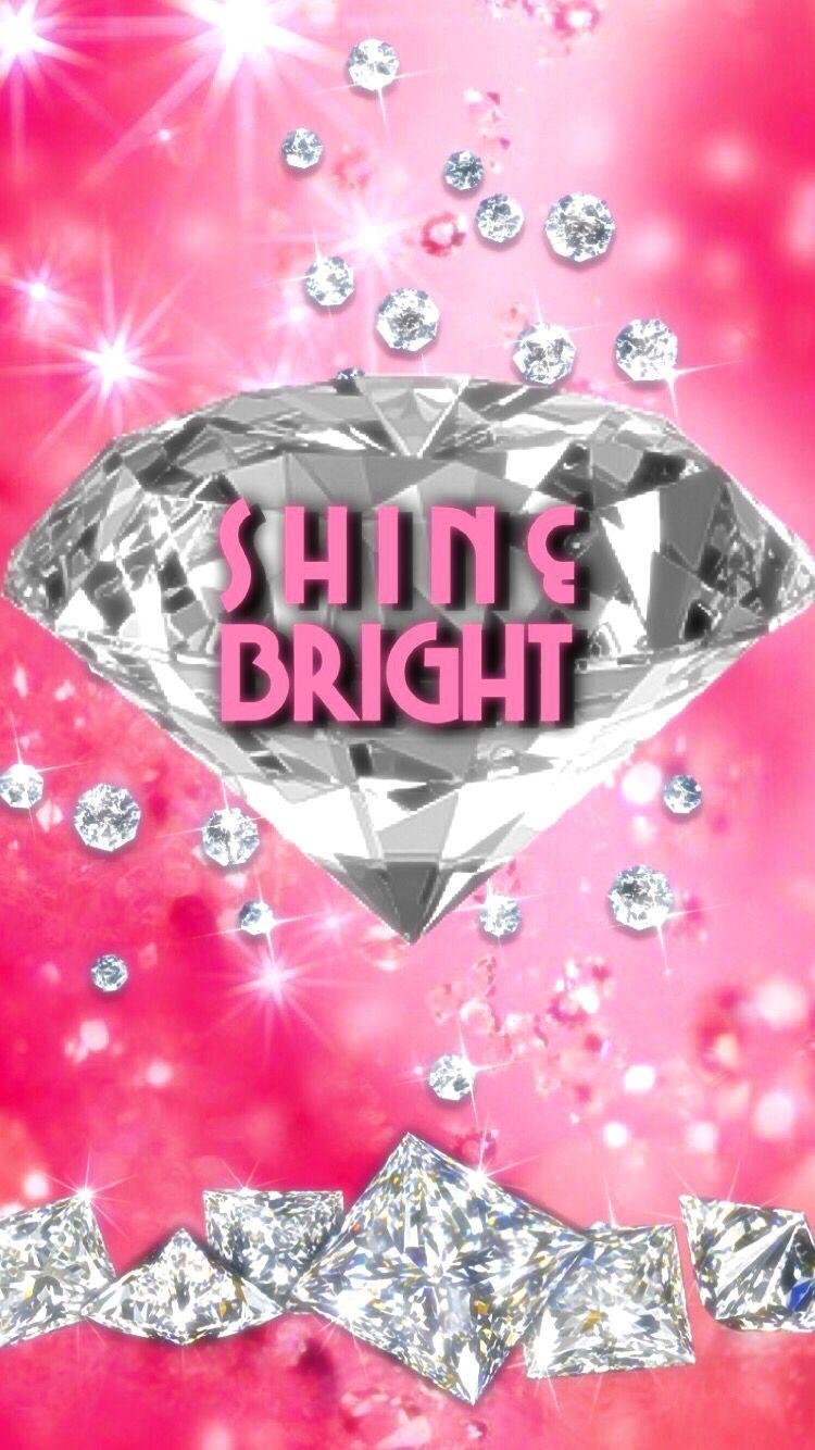 Girly Diamond Bling Wallpaper Cool Backgrounds Wallpapers Hot Pink Wallpaper