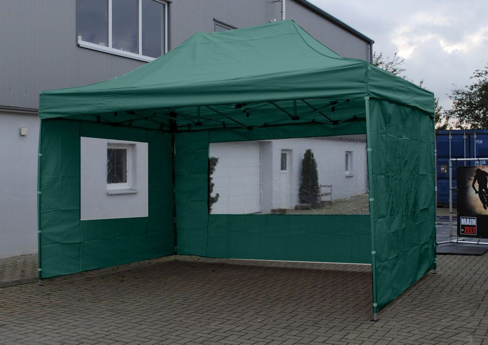 3x4 5m Profi Faltzelt Alu Express Zelt Pavillon 4 Seitenwande