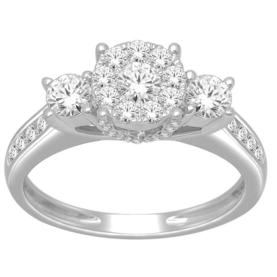1 carat diamond price picture 1 Carat ctw Round Three Stone Cluster