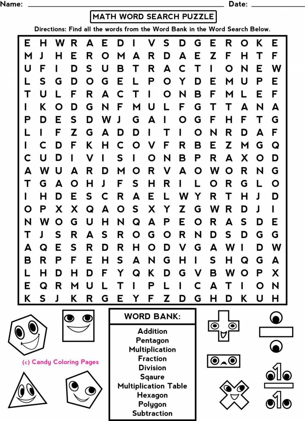 5 Fun Math Worksheets For Middle School Free Fun Printable