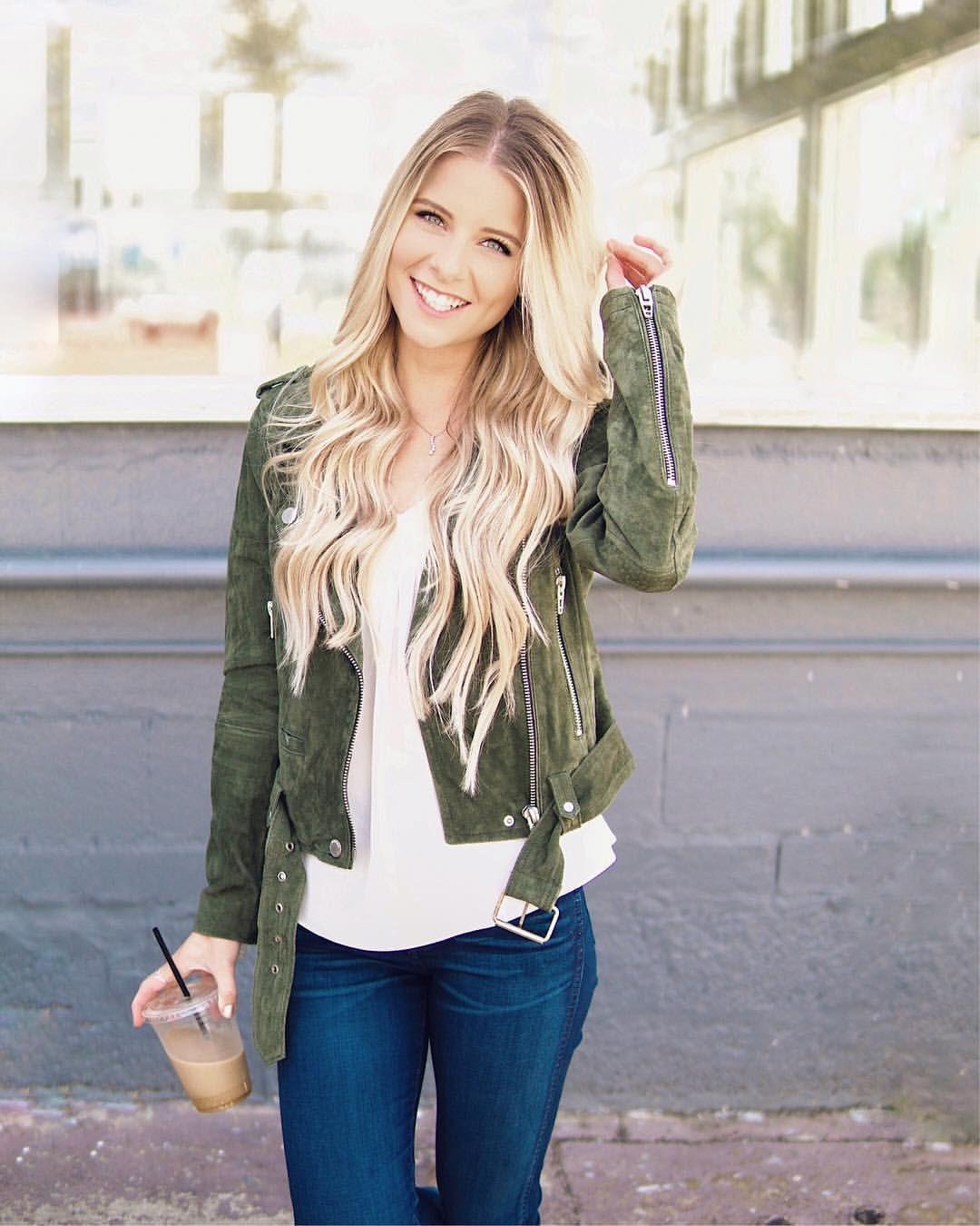 Suede Olive Green Moto Jacket Blanknyc Jacket Fall Fashion Outfit Ideas Heatherpoppie Womens Fashion Jackets Fall Fashion Outfits Moto Jacket Outfit [ 1350 x 1080 Pixel ]