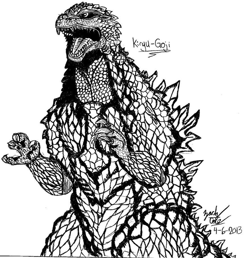 Print Godzilla An Enormous Destrructive Coloring Pages Coloring Pages Monster Coloring Pages Coloring Pages To Print