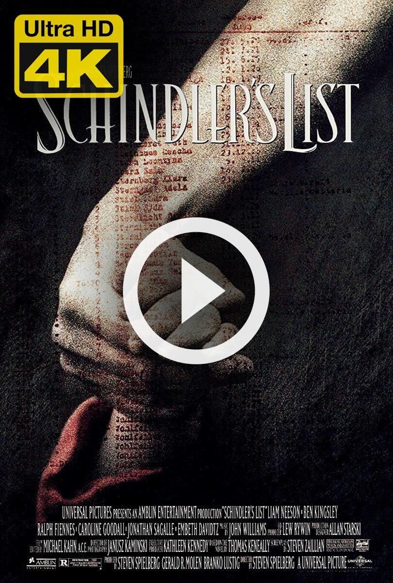 4K Ultra HD Schindler's List (1993) Watch & Download