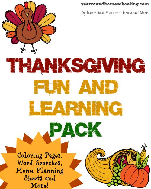 FREE Thanksgiving Fun and Learning Pack -