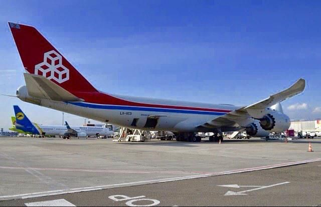 Amazing shot from ugtb tbs boeing freighter cargolux by tbilisiairportspotter also megaplane on pinterest cargo airlines and airplanes rh