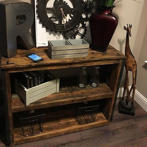 Rustic Industrial Entryway Table Made From 100% Pallet Wood, By Angry Wood  Design.