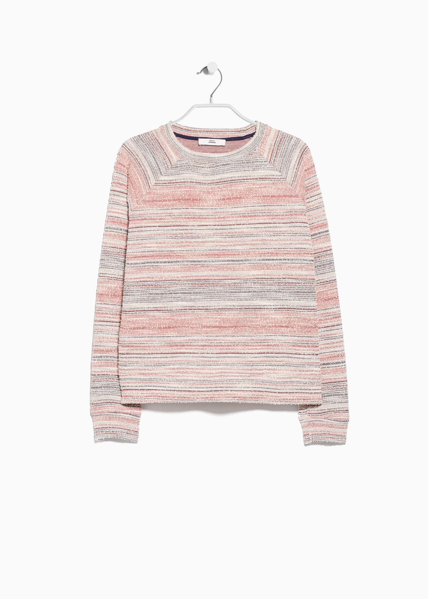 Sweatshirt retalas - Cardigans und pullover für Damen | MANGO