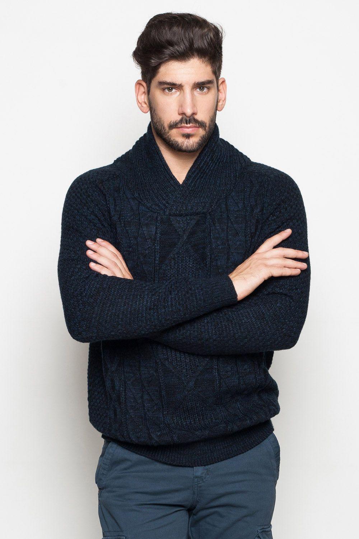 187ef0194f37 Elegáns, divatos férfi kötött pulóver, többféle színkombnációban ...