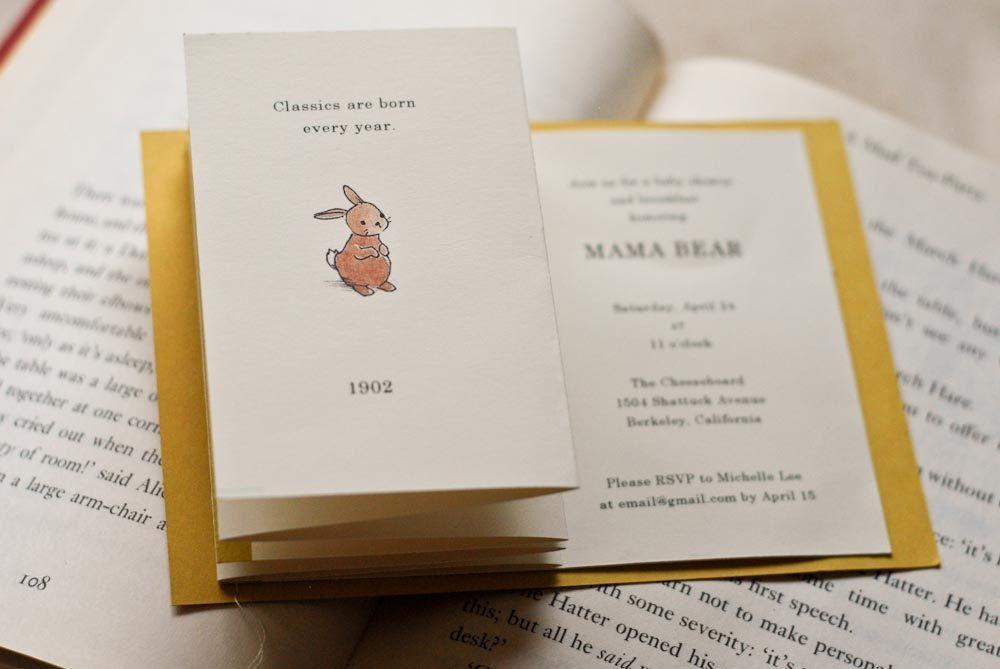 baby shower birthday invitation set classic children s books theme