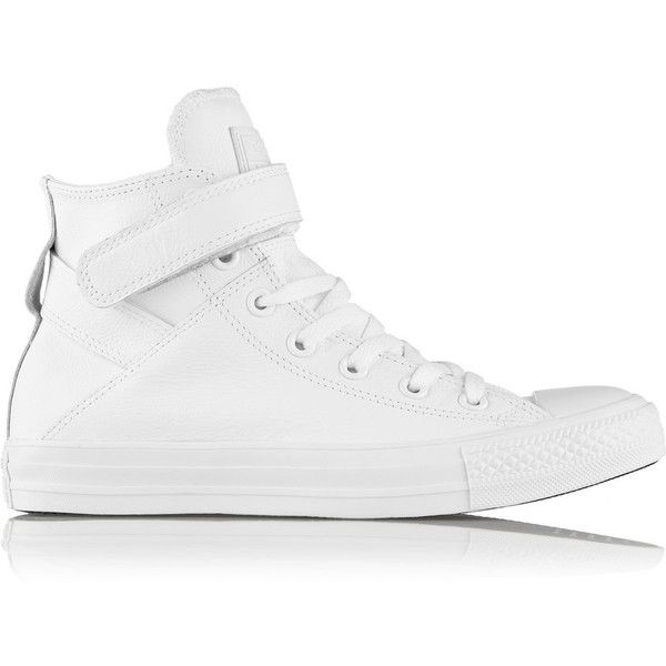 4702385abb5d Converse Chuck Taylor All Star Brea leather high-top sneakers ( 75) ❤ liked  on Polyvore featuring shoes
