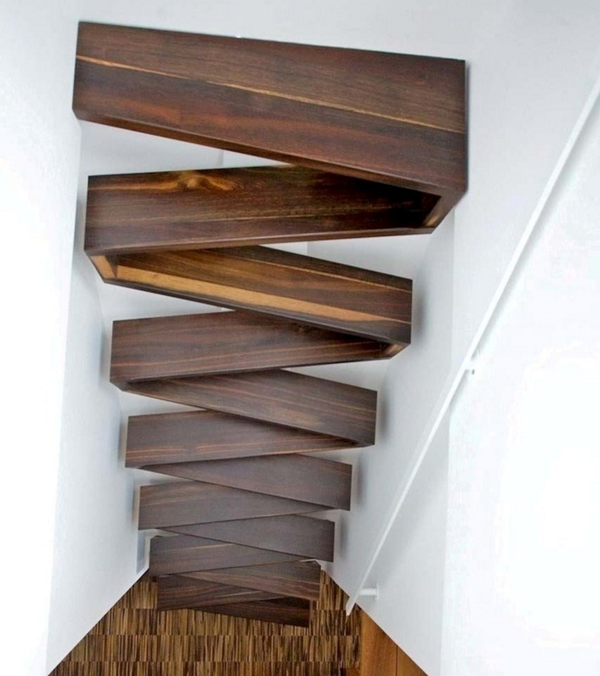 Escalera en zigzag detalle arquitetura escadas - Escaleras para espacios pequenos ...