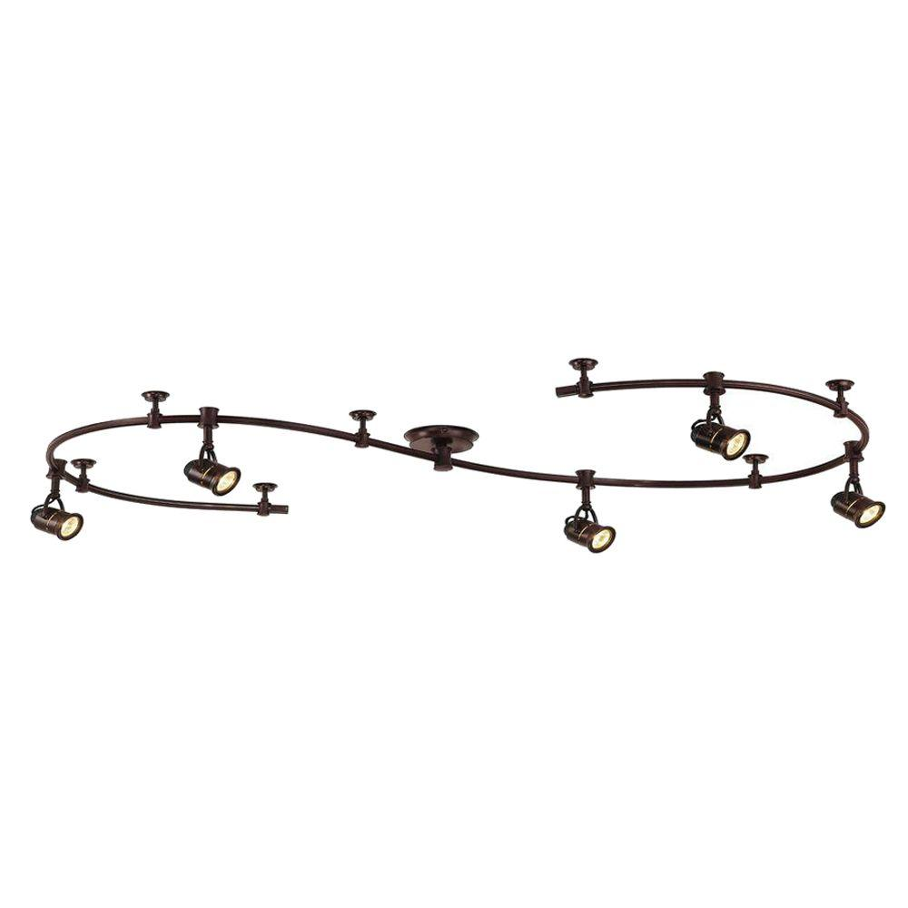 Light Black Flexible Track Lighting