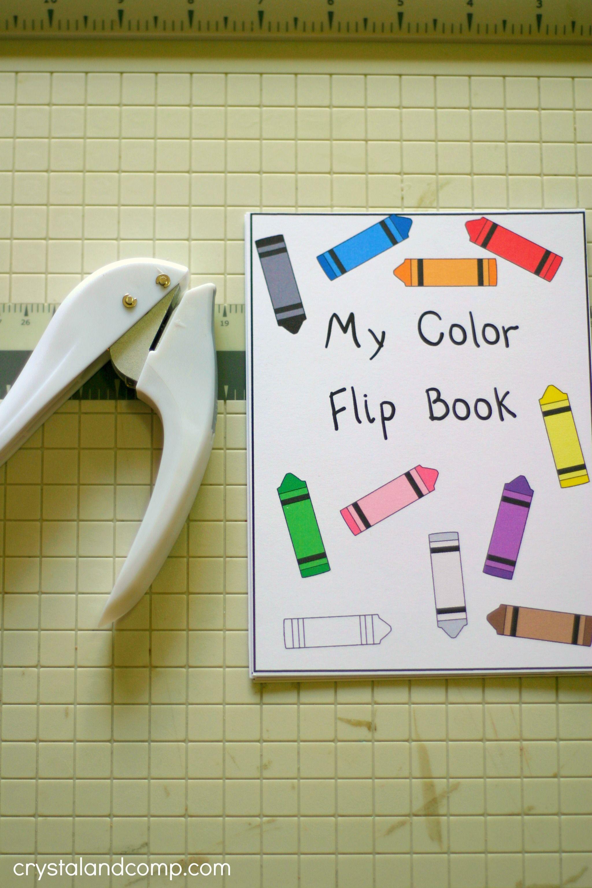 Printable Color Flash Card Flip Book | Pinterest | Flip books ...