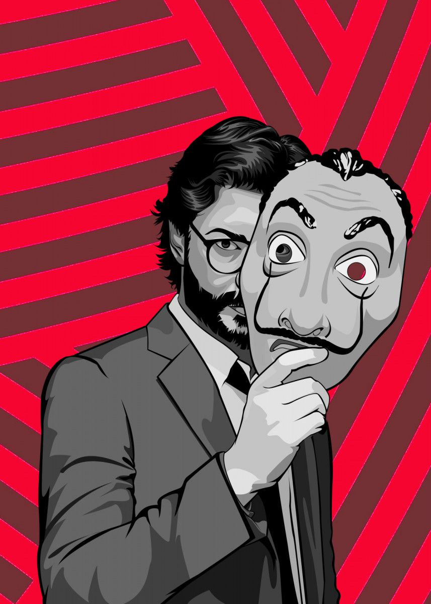 'La casa de papel Professor' Metal Poster - PAUL DRAW   Displate