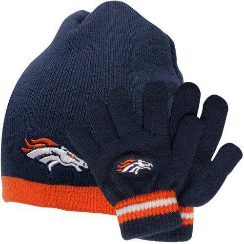 5dccee31 NFL Reebok Denver Broncos Toddler Beanie & Gloves Set - Navy Blue by ...