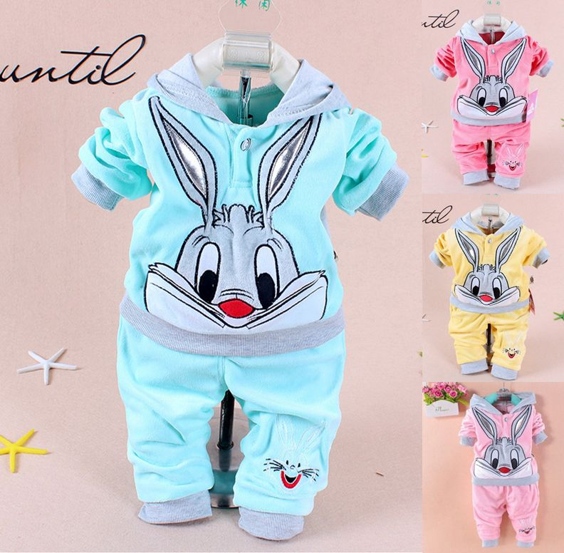 Drop shipping 1 Sets retail. 2015 Spring/Autumn baby set cartoon rabbit velvet set twinset long sleeve set hoodie https://t.co/32ZTUOq0NX