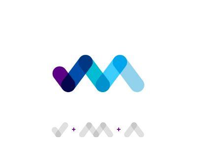 check mark m letter a letter logo design symbol