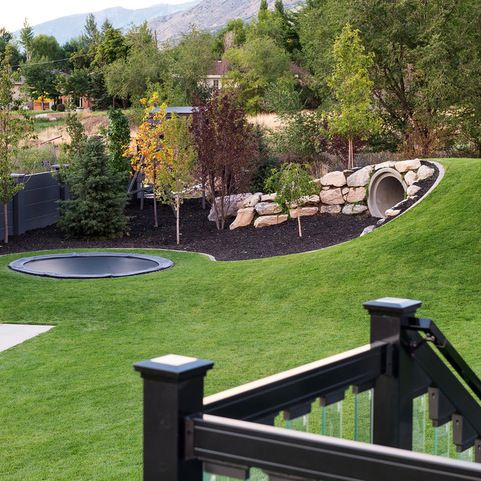 In Ground Trampoline Design Ideas Pictures Remodel And Decor