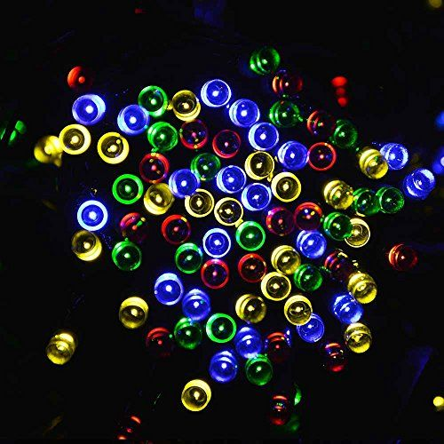 lederTEK Solar Christmas Lights 72ft 22m 200 LED 8 Modes Solar ...
