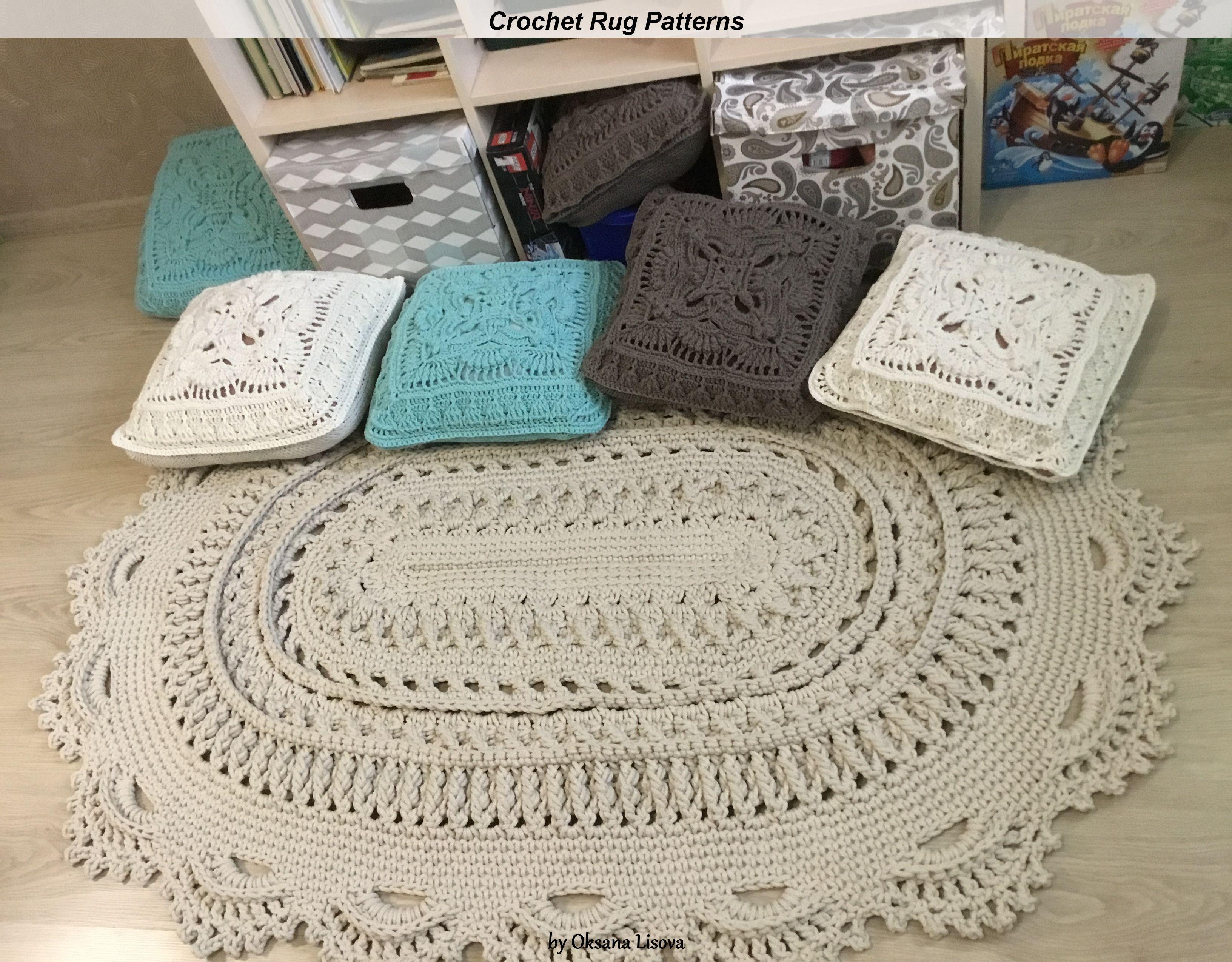 Crochet Video Tutorial On An Oval Bedside Carpet Video In Etsy In 2020 Crochet Rug Patterns Crochet Videos Tutorials Crochet Videos
