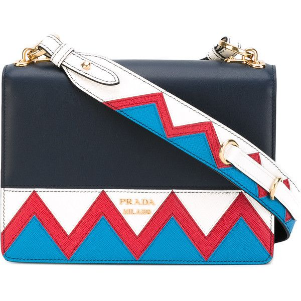 4f0bb14935 Prada zigzag detail crossbody bag (51 115 UAH) ❤ liked on Polyvore  featuring bags
