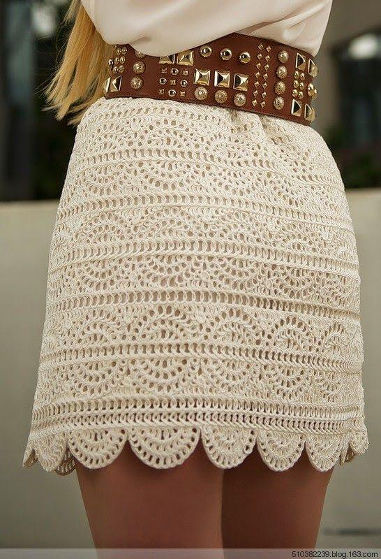 Tecendo Artes em Crochet: Saias Lindas e com Gráficos ...